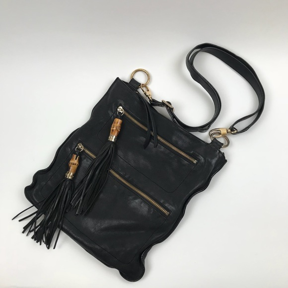 c3164bf83 Spiral New York CrossBody Bag Black Bamboo Tassel.  M_5ae2399c2c705d13ea80c7bb